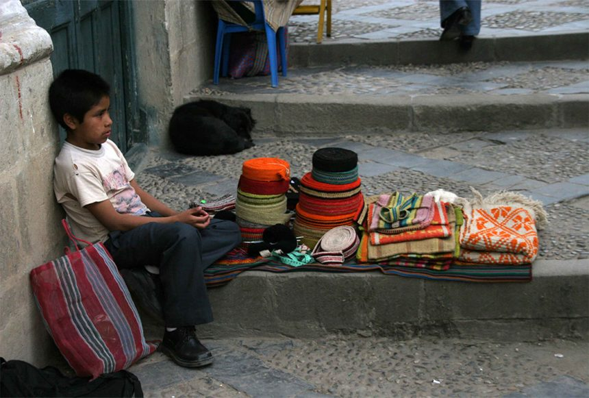 Peruvian Children and the Mothers that Carry Them