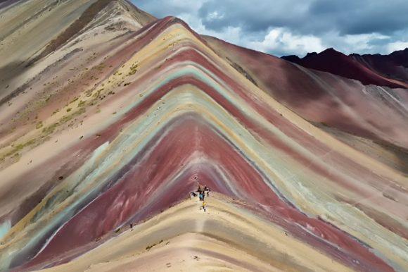 Vinicunca, rainbow mountain, altitude, cusco, peru, peaks